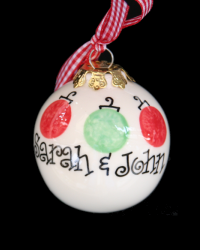 Pitter Platters Ball Tri Ornaments