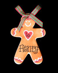 Pitter Platters Flat Gingerbread Boy