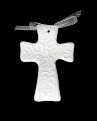 Pitter Platters Cross Collection Wavy White