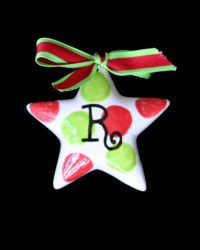 Pitter Platters Puffy Polka Dotted Star