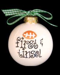 Pitter Platters Sports Balls Football First and Tinsel